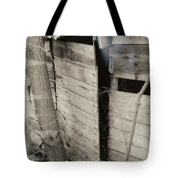 Tote Bag featuring the photograph Antique Barn Circa 1930s by Renee Trenholm