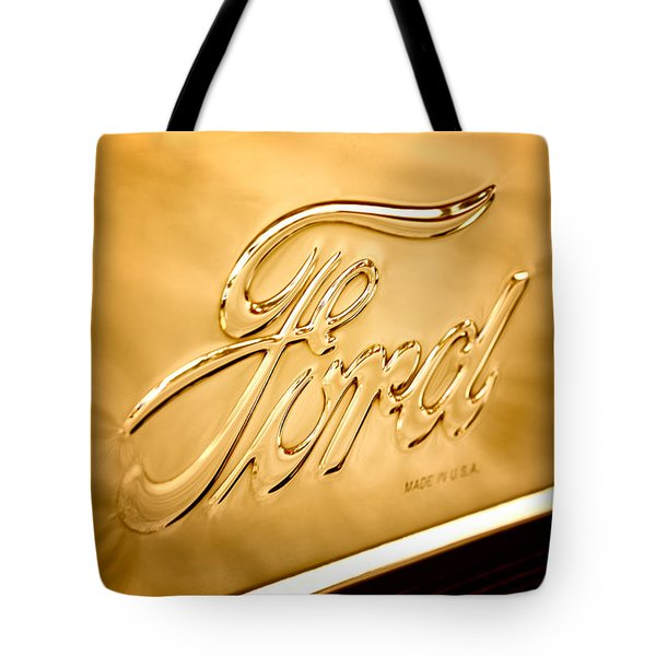 Antique Brass Tote Bag by Caitlyn  Grasso
