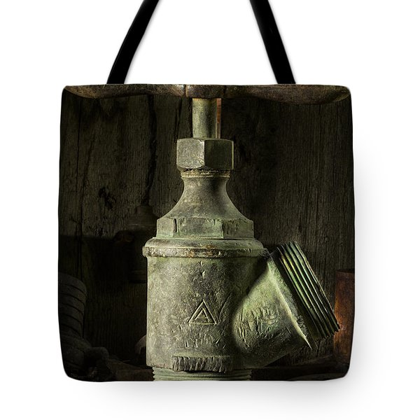 Antique Brass T Valve Tote Bag