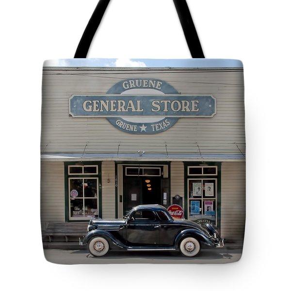 Antique Car At Gruene General Store Tote Bag