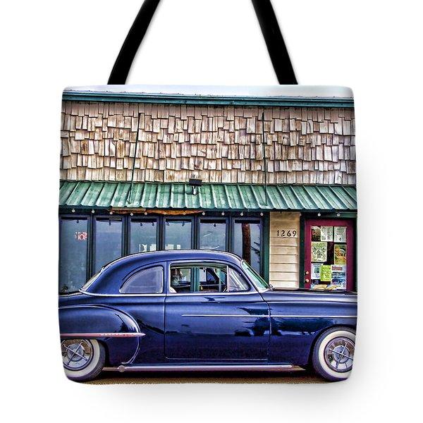 Antique Car - Blue Tote Bag