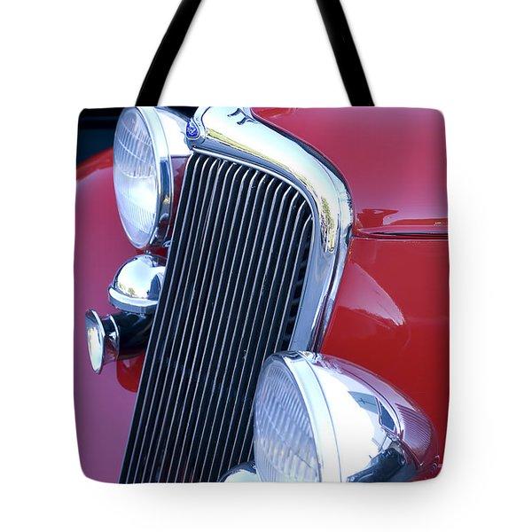Antique Car Hood Ornament Tote Bag