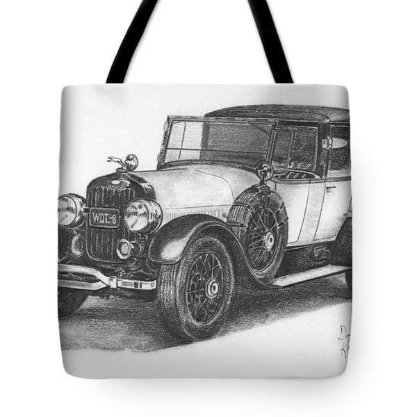 Antique Car -pencil Study Tote Bag