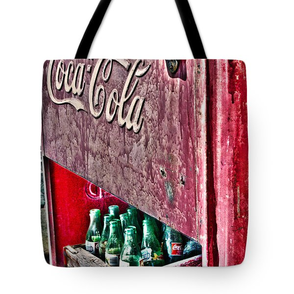 Antique Coca Cola Coke Refrigerator Tote Bag