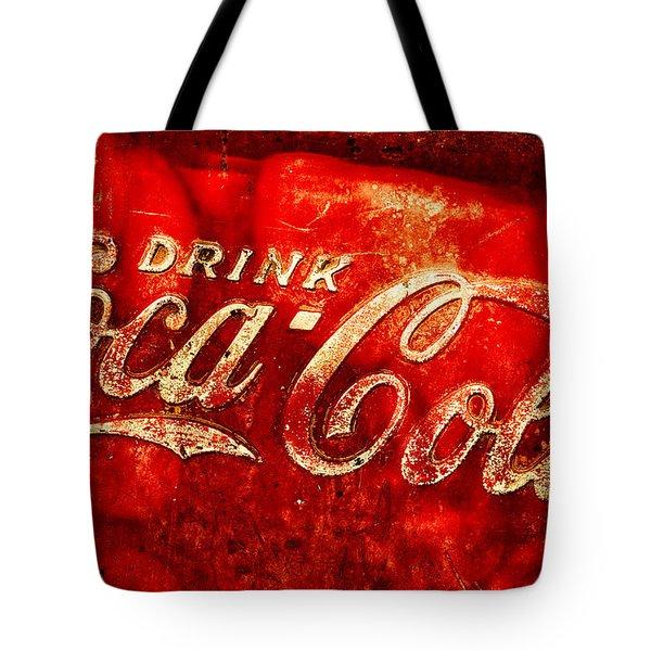Antique Coca-cola Cooler Tote Bag by Stephen Anderson