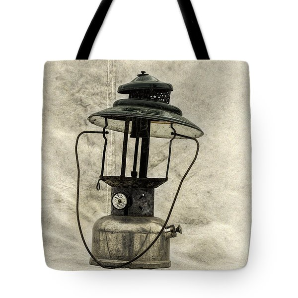 Antique Coleman Lantern Tote Bag