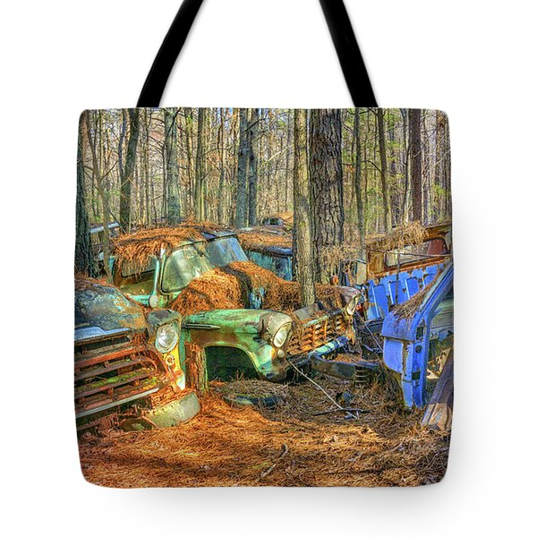 Antique Trucks Tote Bag