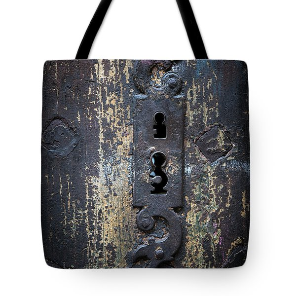 Tote Bag featuring the photograph Antique Door Lock Detail by Elena Elisseeva