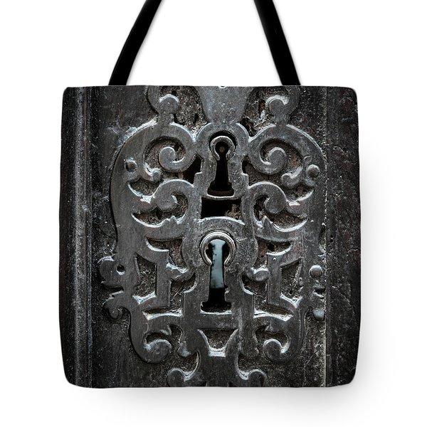 Tote Bag featuring the photograph Antique Door Lock by Elena Elisseeva