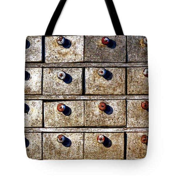 Antique Drawer Cabinet Tote Bag