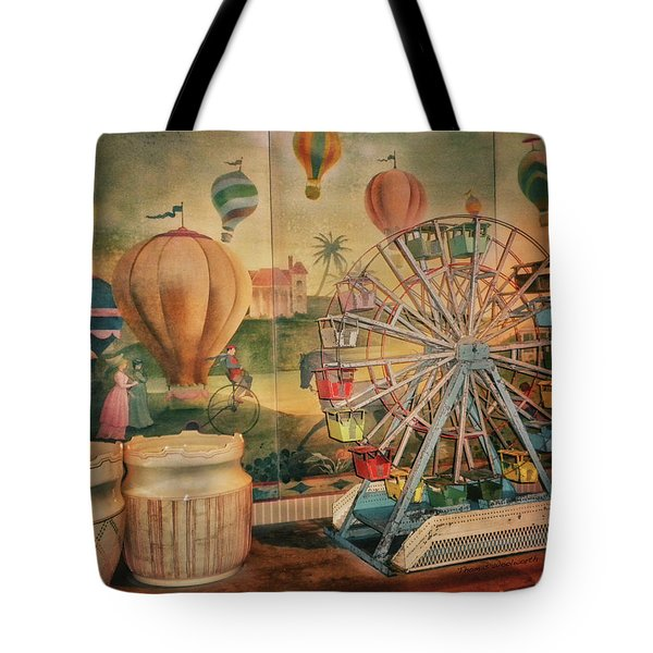Antique Ferris Wheel Walt Disney World Mp Tote Bag