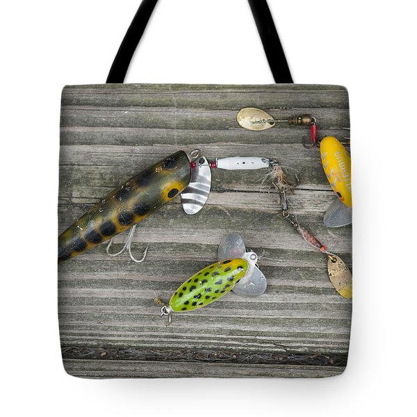 Antique Fishing Lures Tote Bag