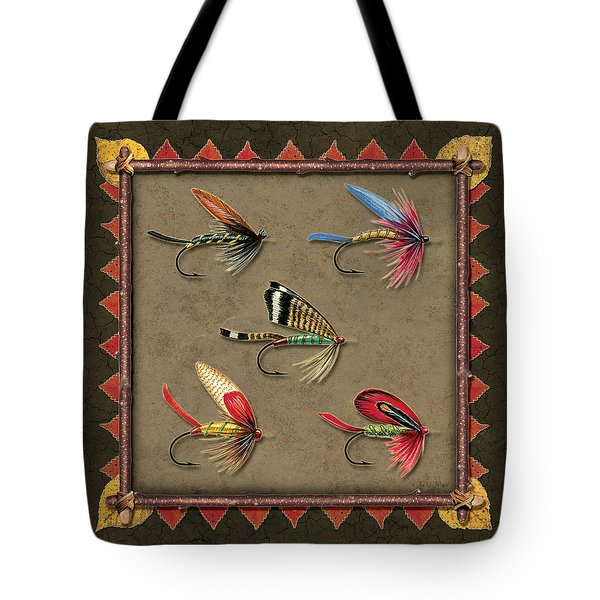 Antique Fly Panel Tote Bag