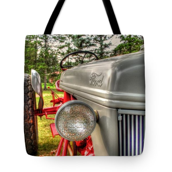 Antique Ford Tractor Tote Bag by Michael Garyet
