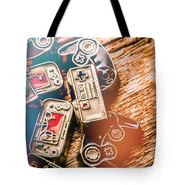 Antique Gaming Consoles Tote Bag