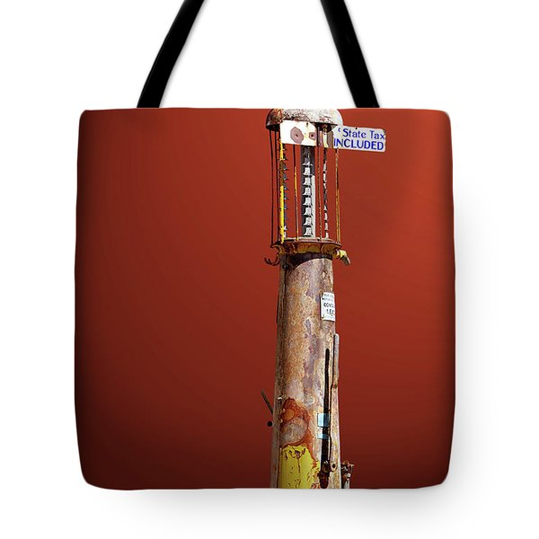 Antique Gas Pump Tote Bag by Phyllis Denton