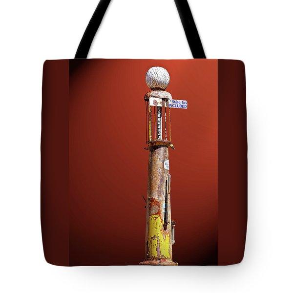 Antique Gas Pump Tote Bag