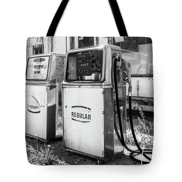 Antique Gas Pumps Tote Bag