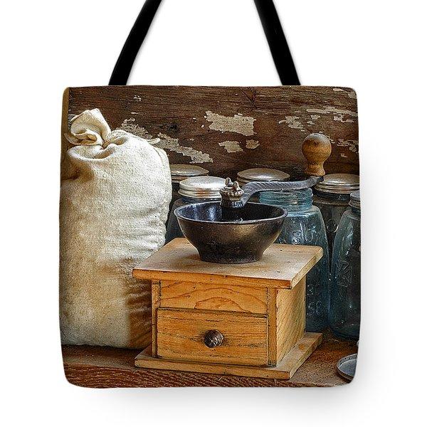 Antique Grinder Tote Bag