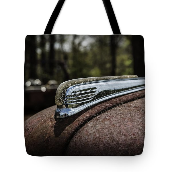 Tote Bag featuring the photograph Antique Hood Ornament by Kim Hojnacki