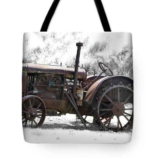 Antique Iron Horse Tote Bag by Kathy M Krause