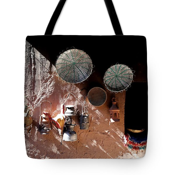 Tote Bag featuring the photograph Antique Lanterns by Andrew Fare