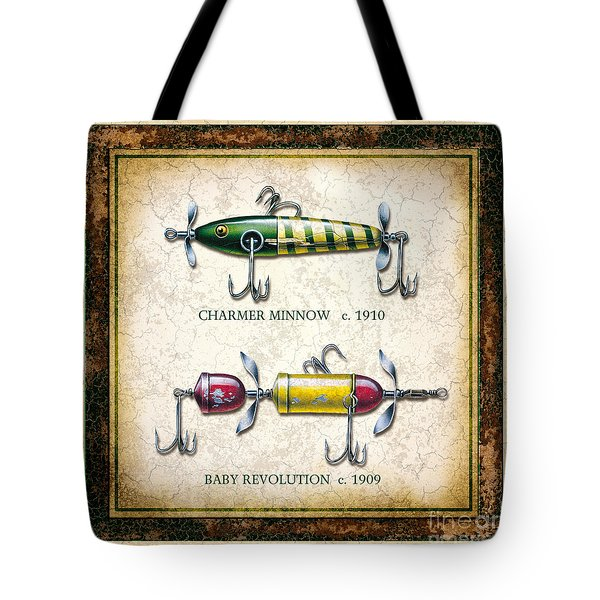 Antique Lure Panel One Tote Bag