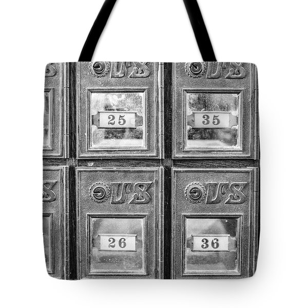 Antique Mailbox Black And White Tote Bag