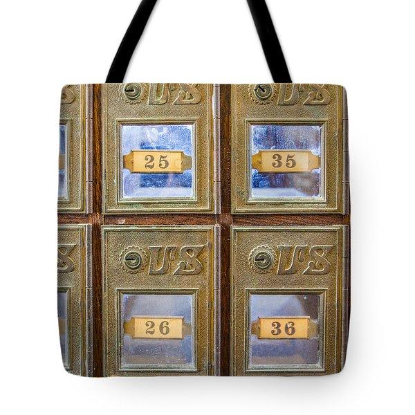 Antique Mailbox Color Tote Bag