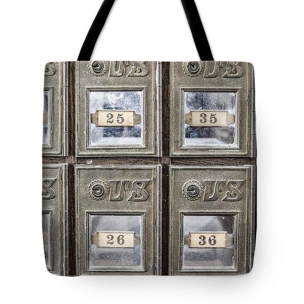 Antique Mailbox Tote Bag
