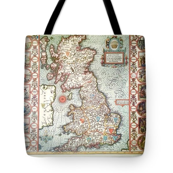 Antique Map British Isles Tote Bag