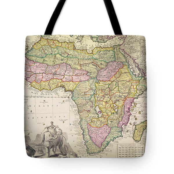 Antique Map Of Africa Tote Bag