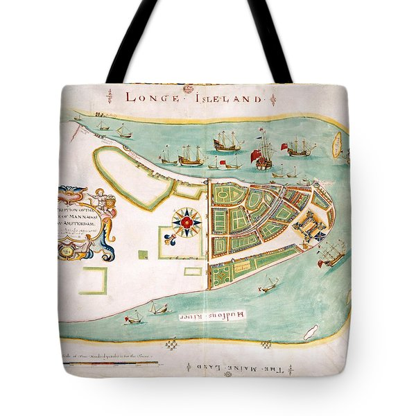 Antique Map Of Manhattan New York 1664 Tote Bag