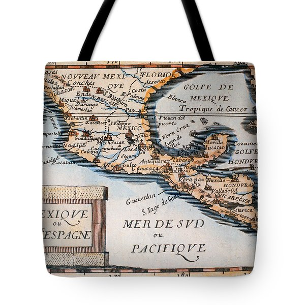 Antique Map Of Mexico Or New Spain Tote Bag by French School