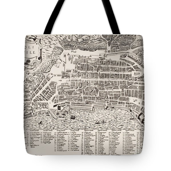 Antique Map Of Naples Tote Bag by Italian School