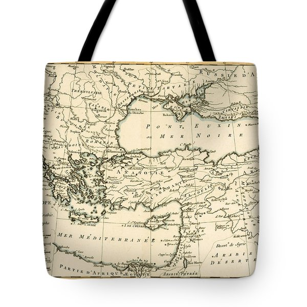 Antique Map Of Turkey Tote Bag by Guillaume Raynal