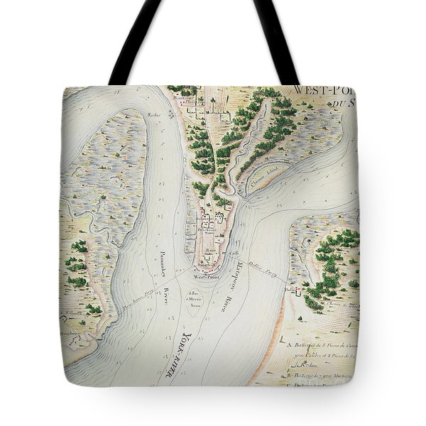 Antique Map Of West Point  Virginia Tote Bag
