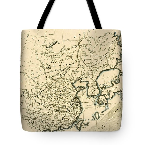 Antique Map The Chinese Empire Tote Bag by Guillaume Raynal