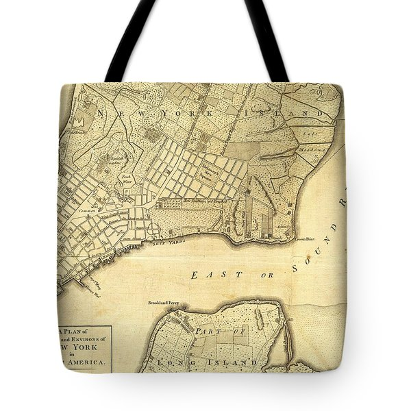 Antique Maps - Old Cartographic Maps - City Of New York And Its Environs Tote Bag