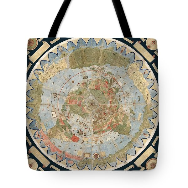 Antique Maps - Old Cartographic Maps - Flat Earth Map - Map Of The World Tote Bag