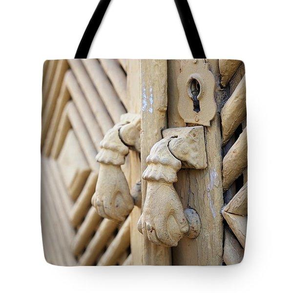 Antique Mediterranean Door-knocker Tote Bag