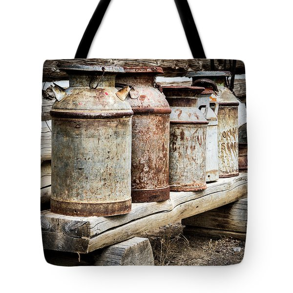 Antique Milk Cans Tote Bag