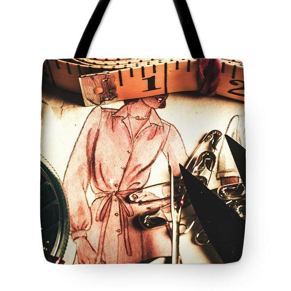 Antique Needlework Tote Bag