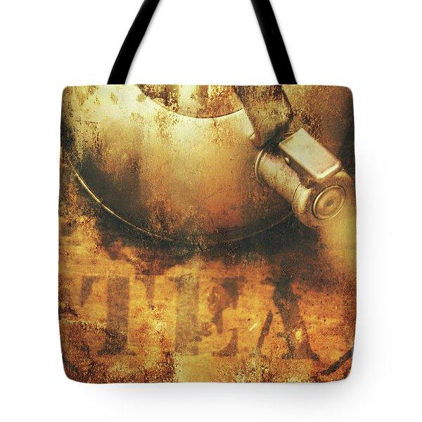 Antique Old Tea Metal Sign. Rusted Drinks Artwork Tote Bag