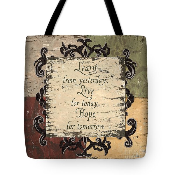 Antique Patchwork Inspirational Tote Bag