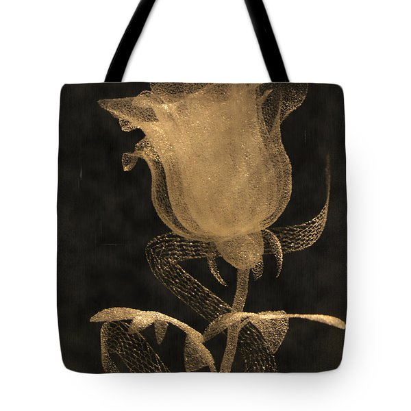 Antique Rose Of Glass Tote Bag