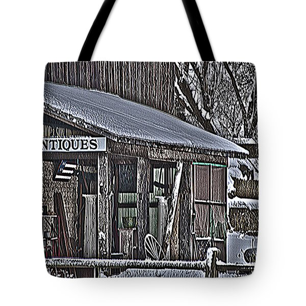 Tote Bag featuring the photograph Antique Shack by Deborah Klubertanz