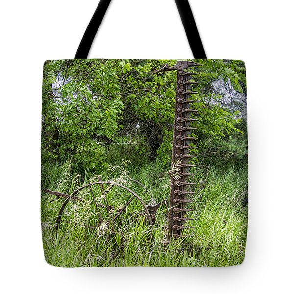 Tote Bag featuring the photograph Antique Sickle Bar by JRP Photography