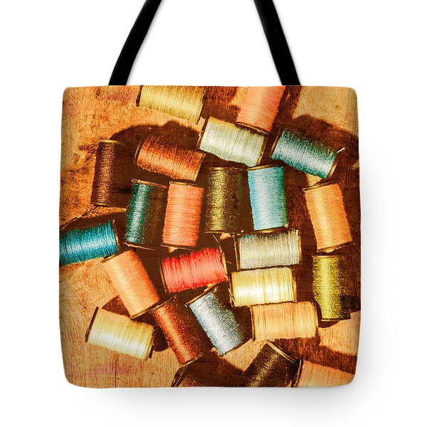 Antique Spools And Thread Tote Bag