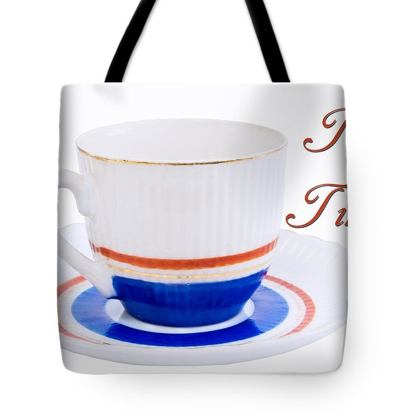Antique Teacup From Japan With Tea Time Invitation Tote Bag